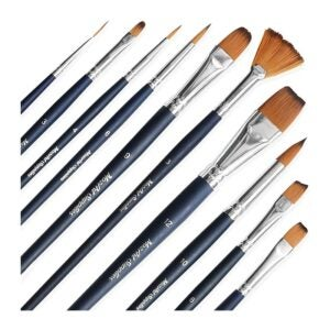 The Best Watercolor Brushes Option: MozArt Supplies Essential Watercolor Paint Brush Set