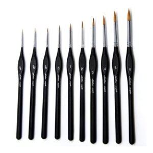 The Best Watercolor Brushes Option: golden maple Detail Paint Brushes Set