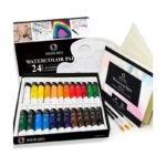 最好的水彩涂料选项:AEM HI艺术水彩绘画艺术家套装 -  24管