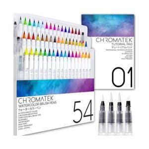 最好的水彩涂料选项:Chromatek 54水彩刷笔