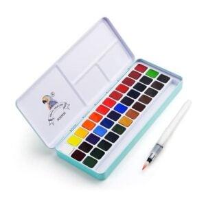 最好的水彩涂料选项:Meiliang Watercolor Paint Set,36种鲜艳的色彩