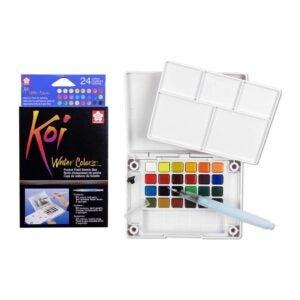 最好的水彩涂料选项:Sakura XNCW-24N 24,什锦水彩仿现场素描