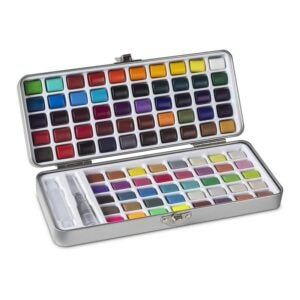 最好的水彩涂料选项:工会配件水彩套装,90种鲜艳的色彩