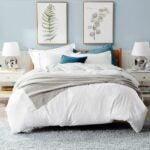 最好的羽绒被覆盖选项:床确定白色洗涤羽绒被套