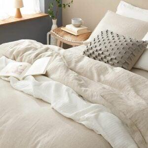 最好的羽绒被封面选项:Dapu Pure Linen Duvet Cover