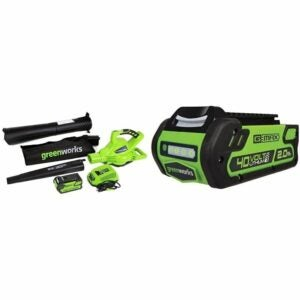 The Best Leaf Mulcher Option: Greenworks 40V Variable Speed Cordless Leaf Blower