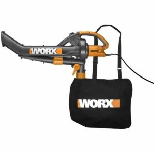 The Best Leaf Mulcher Option: WORX TriVac WG500 12 amp All-in-One Electric Mulcher