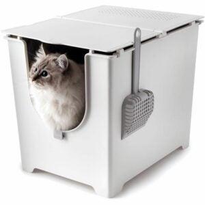 最好的垃圾箱选项:Modkat翻转垃圾箱,带勺和可重复使用的衬里