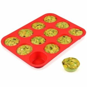 The Best Muffin Pan Option: CAKETIME 12 Cups Silicone Muffin Pan