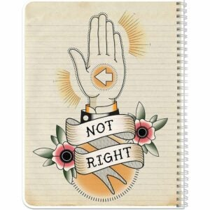 The Best Notebooks Option: BookFactory NotRight (Left-Handed) Notebook