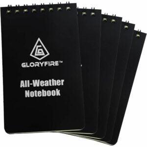 The Best Notebooks Option: GLORYFIRE Waterproof Notebook