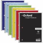 """The Best Notebooks Option: TOPS/Oxford 1-Subject Notebooks, 8"""" x 10-1/2"""""""