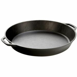 The Best Paella Pan Option: Lodge Seasoned Cast Iron Skillet with 2 Loop Handles