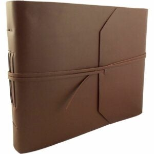 最好的相册选项:带剪贴簿页面的乡村岭皮革相册
