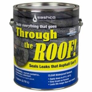 最好的屋顶密封胶选项:Sashco 14004加仑透明屋顶垫