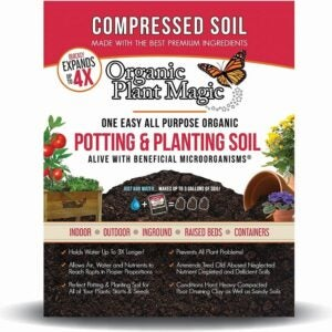 The Best Soil for Raised Beds Option: Organic Plant Magic Compressed Organic Potting Soil