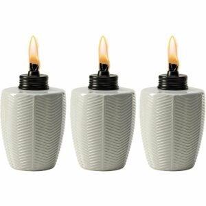 最好的Tiki火炬选项:Tiki品牌人字形白色玻璃桌面火炬