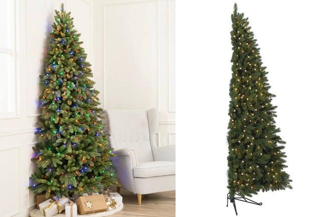 half christmas tree trend
