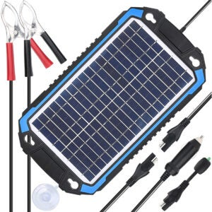 Best Battery Charger Options: SUNER POWER 12V Solar Car Battery Charger