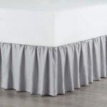 Best Bed Skirt Options: Martex Ruffle Bed Skirt, Twin, Light Gray