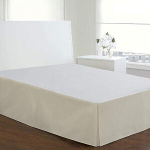 Best Bed Skirt Options: Today's Home Microfiber Classic Tailored Styling Bed Skirt