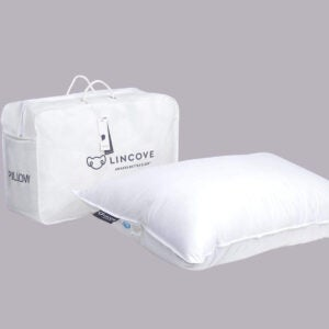 Best Bedding Options: Lincove Classic Natural Goose Down Luxury Sleeping Pillow-800