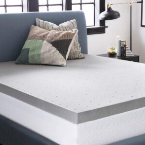 Best Cooling Mattress Topper Options: LUCID 3 Inch Bamboo Charcoal Memory Foam