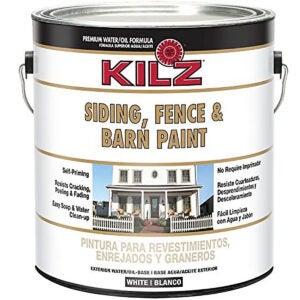 最好的栅栏油漆选择:KILZ外墙壁板,栅栏和谷仓油漆