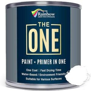 最好的围栏油漆选项:一个油漆 - 白色 -  1升