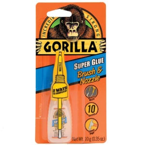 Best Glue for Glass Options: Gorilla Super Glue with Brush & Nozzle Applicator