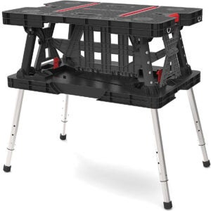Best Portable Workbench Options: Keter Folding Compact Adjustable Workbench