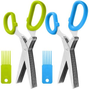 Best Scissors Options: 2 Packs Stainless Steel Herb Scissors