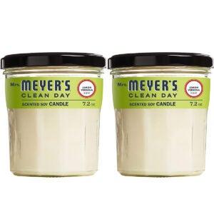 最佳大豆蜡烛选择:Meyer夫人的干净日香味甘菊奶油蜡烛