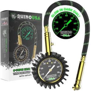 Best Tire Pressure Gauge Options: Rhino USA Heavy Duty Tire Pressure Gauge (0-75 PSI)