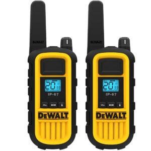 Best Walkie Talkie Options: DEWALT DXFRS800 2 Watt Heavy Duty Walkie Talkies