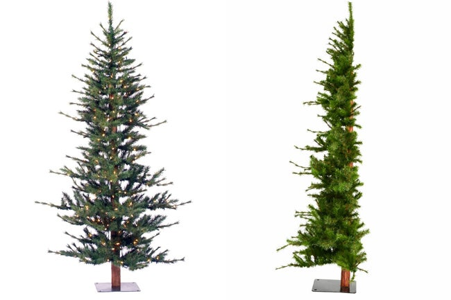 wayfair sparse half christmas tree