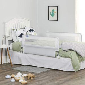 适合儿童的最佳床轨道选项:Regalo Hideaway双面床栏杆护栏