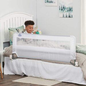 适合儿童的最佳床轨道选项:Regalo Swing下来54英寸超长床栏杆