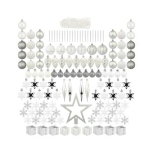 The Best Christmas Tree Toppers Option: ITART 129ct Christmas Tree Ornaments Including Topper