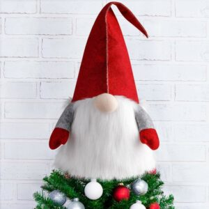 最佳圣诞树Toppers选项:D-FantiX Gnome圣诞树Topper, 25英寸大