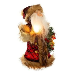 The Best Christmas Tree Toppers Option: Kurt Adler 10-Light Santa Treetop, 10-Inch