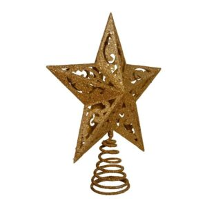 The Best Christmas Tree Toppers Option: Kurt Adler 8-Inch Gold Glittered 5 Point Star Treetop