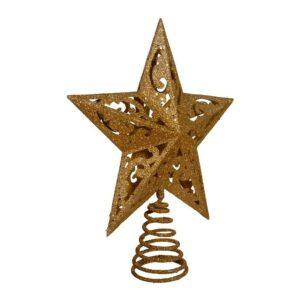 最好的圣诞树拓扑选择:Kurt Adler 8英寸金闪闪发光的5个星星树梢