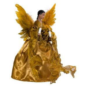 The Best Christmas Tree Toppers Option: Kurt Adler African American Angel Treetop Figurine