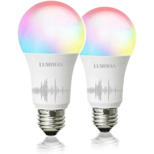 The Best Color Changing Light Bulb Option: LUMIMAN Smart WiFi Light Bulb, LED Color Changing