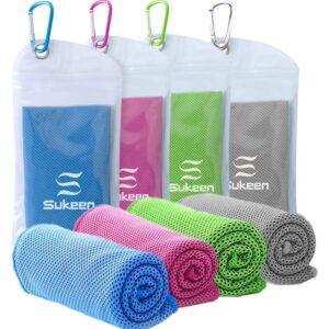 最佳冷却毛巾选择:Sukeen 4包冷却毛巾