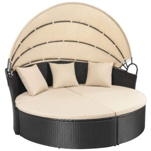 The Best Daybed Option: Homall Outdoor Daybed with Retractable Canopy
