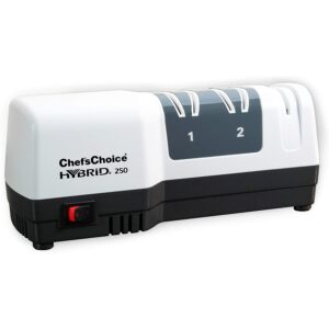 The Best Electric Knife Sharpener Option: Chef'sChoice 250 Hone Hybrid Electric and Manual