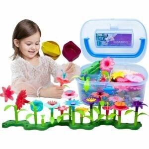 The Best Garden Sets for Kids Option: BIRANCO. Flower Garden Building Toys
