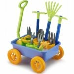 The Best Garden Sets for Kids Option: Liberty Imports Garden Wagon & Tools Toy Set